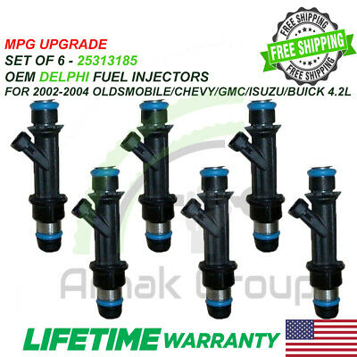 MPG UPGRADE OEM DELPHI Fuel Injectors for OLDSMOBILE/CHEVY/GMC/ISUZU/BUICK 4.2L