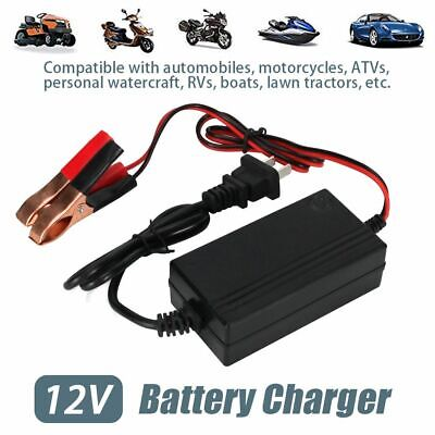 Car Smart Charging Battery Charger Maintainer 12V Trickle RV Truck Motorcycle US