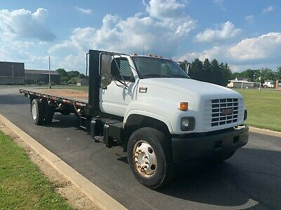 1999 GMC C-6500 24FT FLATBED STRAIGHT TRUCK HAULER DELIVERY NON CDL DIESEL