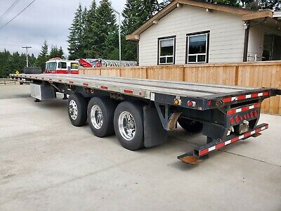 2015 Flat Deck Flat Bed Trailer with Piggyback and Tag Axle