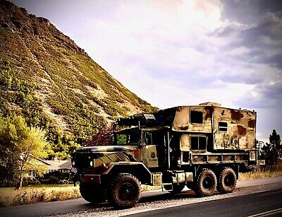 1990 - CUSTOMIZED MILITARY TRUCK- CAMPER-SURVIVALISM- BUG OUT- ADVENTURE- NATURE