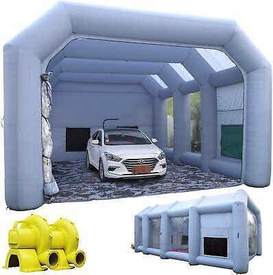 30X20X13Ft Inflatable Paint Booth Portable Painting Booth & 750w+1100w Blowers
