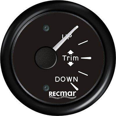 BLACK TRIM GAUGE FOR YAMAHA SUZUKI HONDA OUTBOARD