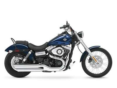 2012 Harley-Davidson Dyna® Wide Glide®  0 Big Blue Pearl with Flame Graphics