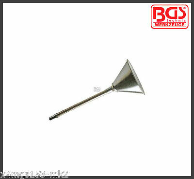 BGS - Funnel, Metal Finish - With Flexible Neck & Sieve - 8030