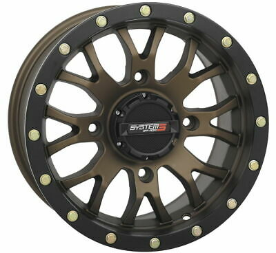 Dragonfire Racing System 3 ST-3 Simulated Beadlock Wheels - Bronze 18X7 4/156