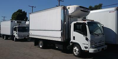 2015 Isuzu NQR  16ft Morgan Refrigerated box truck with liftgate Freightliner In