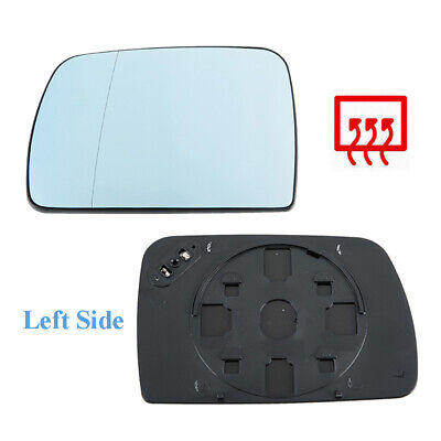 Fit For BMW X5 E53 2000-2006 Left Driver Side Blue Rear View Heated Mirror Glass