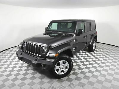 2020 Jeep Wrangler Sport S 2020 Jeep Wrangler Unlimited Sport S 10163 Miles Gray Convertible 4 Cylinder Eng