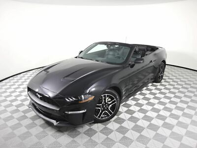 2020 Ford Mustang EcoBoost Premium 2020 Ford Mustang EcoBoost Premium 4719 Miles Black Convertible 4 Cylinder Engin